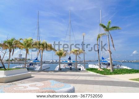 Yacht marine in Varodero.  /Yacht marine/ VARADERO CUBA - stock photo