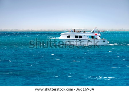 Yacht on the Red Sea