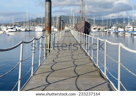 Yacht port - stock photo