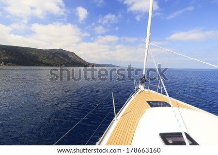Yacht sailing - stock photo