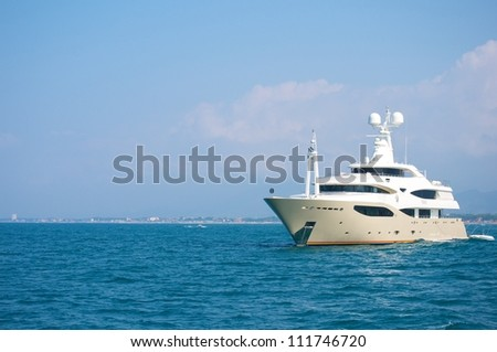 yacht-sedge instruments-design ship - stock photo
