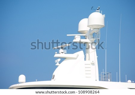 yacht-sedge instruments-design ship-luxury yacht - stock photo