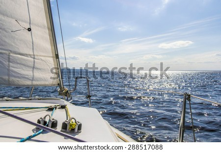 yachting - stock photo