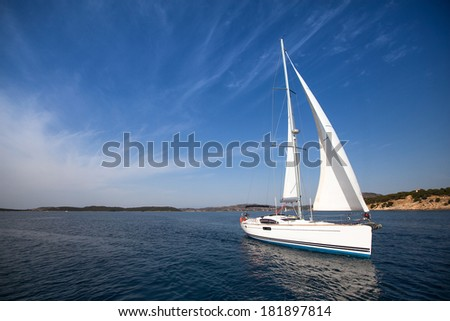 Yachting. Sailing. Luxury yacht. - stock photo