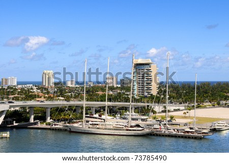 Yachts and boats in Fort Lauderdale - stock photo