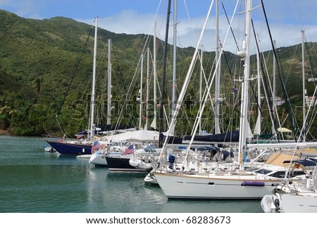 yachts docked in tortola, british virgin islands