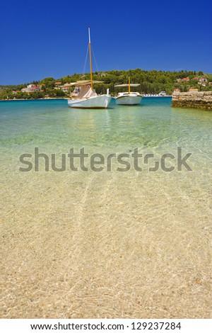 Yachts in marina, Croatia. - stock photo