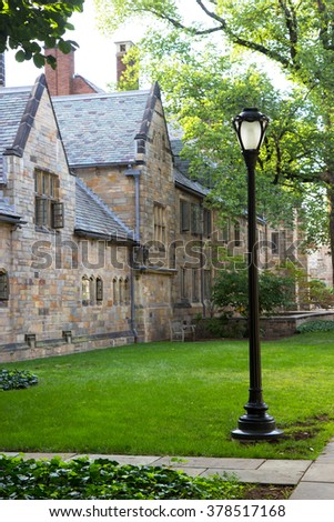 Yale University campus buildings - stock photo