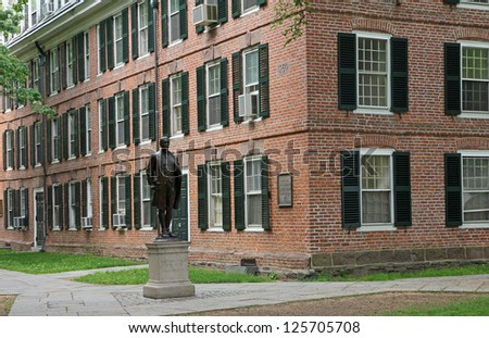 Yale University, Nathan Hale statue, - stock photo