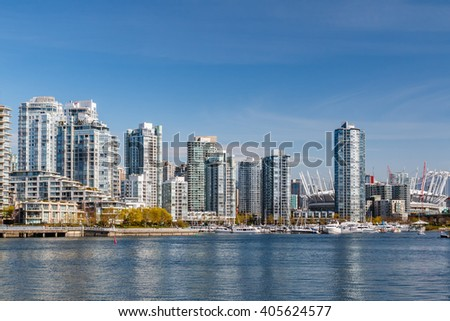 Yaletown - residential area of Downtown Vancouver. British Columbia, Canada