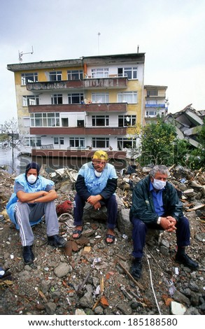 YALOVA, TURKEY-AUGUST 17 : The 1999 Izmit earthquake was a 7.6 magnitude earthquake that struck northwestern Turkey on August 17, 1999. The event lasted for 37 seconds, killing around 17,000 people. - stock photo