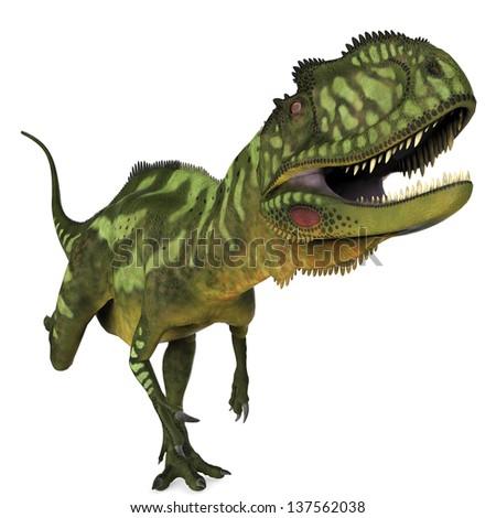 Yangchuanosaurus running - stock photo