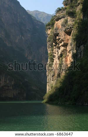 Yangtze River, Three Gorges area in China - stock photo