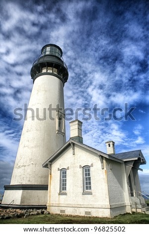 Yaquina Head Lighthouse on the Central Oregon Coast