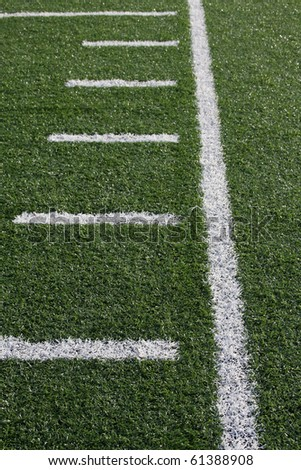 Yard Lines of a American Football Field - stock photo