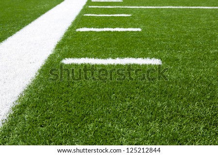 Yard Lines of a Football Field for Sports Background - stock photo