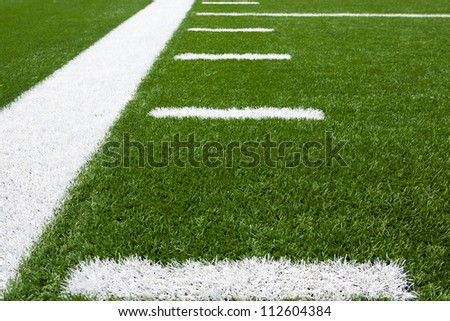 Yard Lines of a Football Field Horizontal for sports background - stock photo