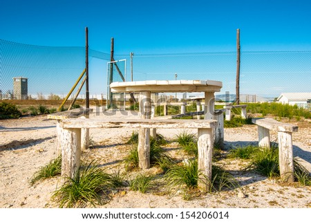 Yard of the Prison on the Robben Island, South Africa, where the President of South Africa Nelson Mandela was imprisoned. UNESCO World heritage - stock photo