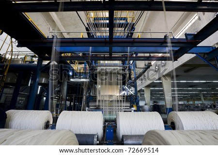 yarn dyeing machine at a textile mill.