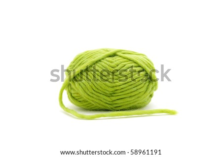 Yarn isolate shot. Is taken in line of macro. - stock photo