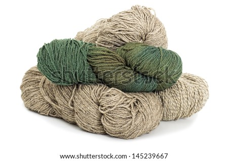 yarn thread on white background
