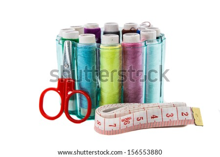 yarns on white backgrounds