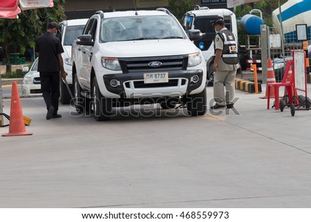 Yasothorn THAILAND AUG-10 : Security guard of 