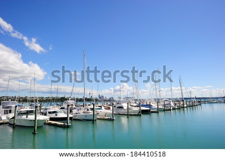 Yatch club in the Auckland area, New Zealand - stock photo