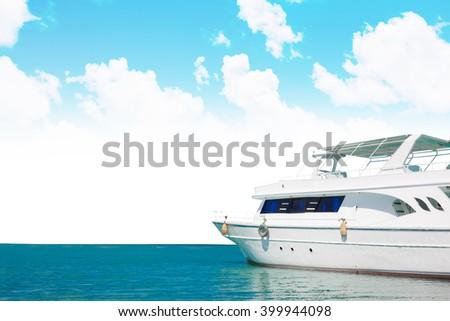 Yatch in beautiful red sea - stock photo