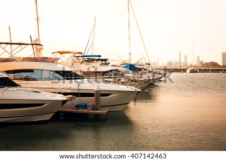 yatch park at pier,asian sea