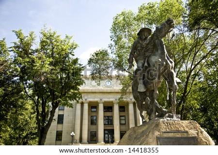 Yavapai County courthouse in Prescott Arizona. - stock photo