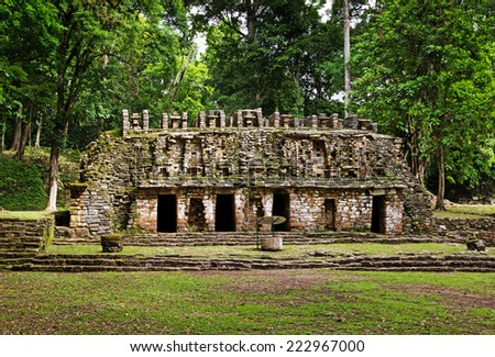 Yaxchilan archeological site, Chiapas, Mexico - stock photo