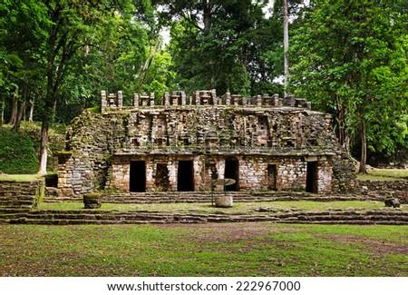 Yaxchilan archeological site, Chiapas, Mexico - stock photo