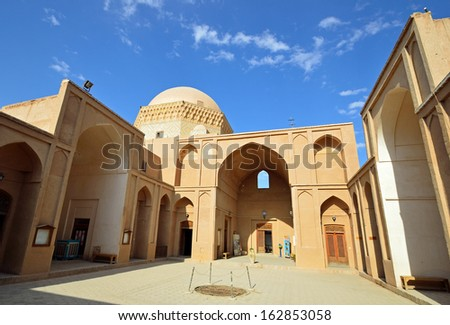 YAZD, IRAN - OCTOBER 12: Alexanders prison on October 12, 2013 in Yazd, Iran. Alexanders prison was neither built by Alexander the great nor a prison, but a fifteenth century domed school.