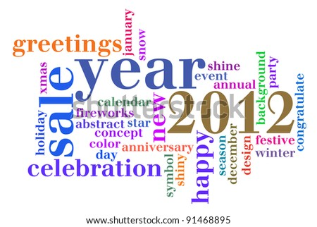 Year 2012 Celebration info-text graphics and arrangement concept