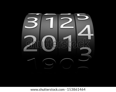year counter  - stock photo