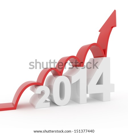 year 2014 growth - stock photo