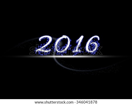 Year 2016 illustration design element
