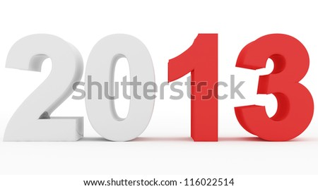 year 2013 stand out - stock photo
