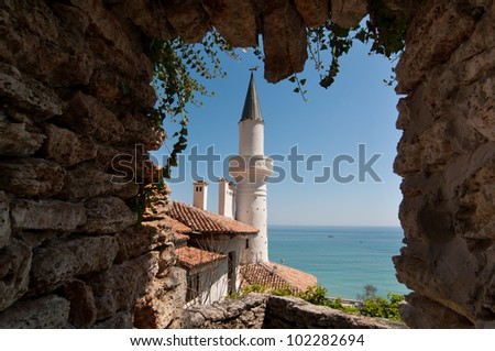 Years residence of the Romanian queen by the black sea - stock photo