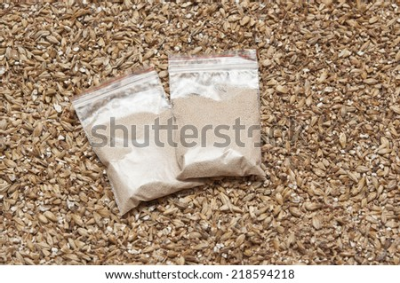 yeast and malt an ingredient for beer.  - stock photo