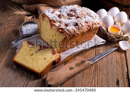 yeast dough cake - stock photo