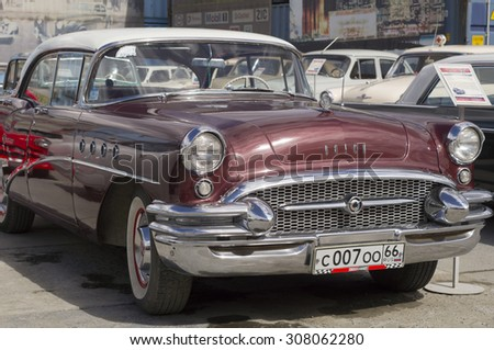 YEKATERINBURG, RUSSIA - AUGUST 16, 2015: American retro car Buick Century presented at the exhibition in retro Russian city of Yekaterinburg.