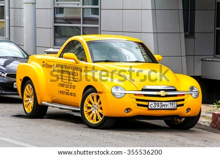 YEKATERINBURG, RUSSIA - JULY 26, 2014: Motor car Chevrolet SSR at the city street. - stock photo