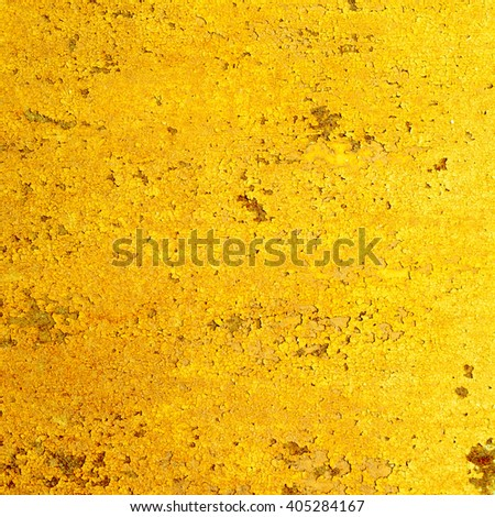 yellow abstract background. Vintage rusty metal texture