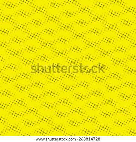 yellow abstract dots background, halftone pattern - stock photo