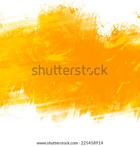 Yellow abstract painting grunge style - stock photo