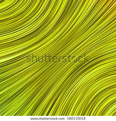 Yellow abstract spiral lines design on dark background