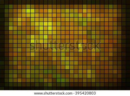 yellow abstract square mosaic background