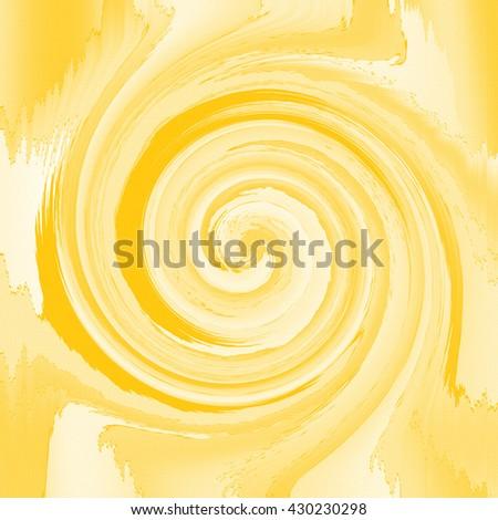 Yellow Abstract Twirl - stock photo